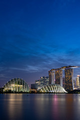 Singapore Skyline at Magic Hour