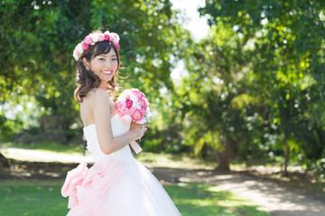 attravtive asian woman wedding image