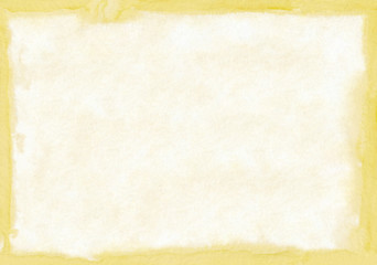 Rectangular regularly shaped vanilla yellow watercolour background. Beautiful abstract canvas for congratulations, valentines, designs, invitation cards, engagements, postcards, text and etc