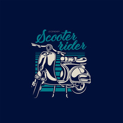 Scooter Motorcycle Illustration