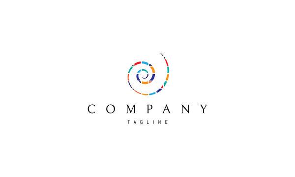 Colorful spiral vector logo image