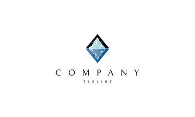 Iceberg vector logo image