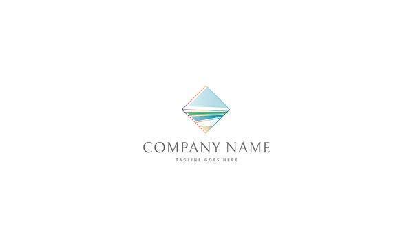 Ocean Landscape vector logo image