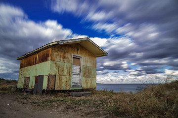 Old rustic cabin by the sea on the bulgarian Black Sea coast