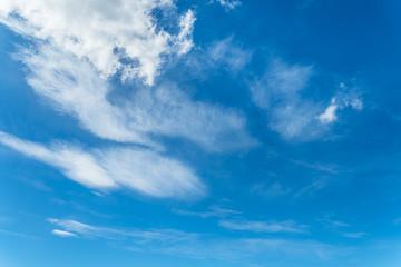 夏の青空と白い雲1
