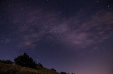 sternenhimmel mit wolken