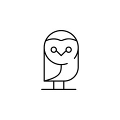 owl icon. Element of Halloween illustration. Premium quality graphic design icon. Signs and symbols collection icon for websites, web design, mobile app