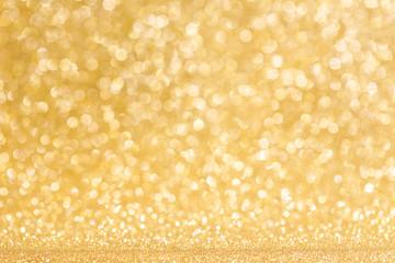 Gold defocused glitter background