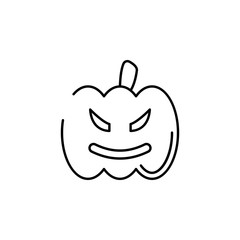 pumpkin icon. Element of Halloween illustration. Premium quality graphic design icon. Signs and symbols collection icon for websites, web design, mobile app