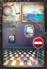 Foto op Canvas Imagination Reverie. A fairytale, magical and surreal room