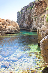 Apulia, Leuca, Grotto of Ciolo - At the bay of Grotoo Ciolo
