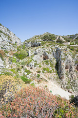 Apulia, Leuca, Grotto of Ciolo - Hiking in the mountains at Grotto Ciolo