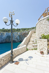 Apulia, Grotta Zinzulusa - Stairway to the famous grotto of Zinzulusa