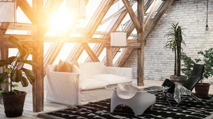 Comfortable cozy modern loft conversion