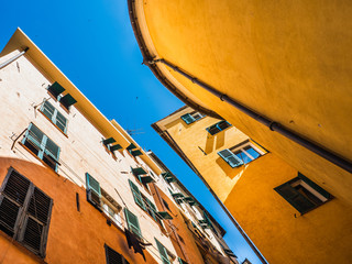 Beautiful houses, streets and attractions of the fabulous city of Genoa, Italy. Travel and vacation...