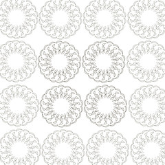 Round pattern from a white background
