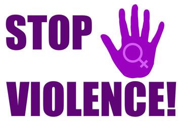 Stop violencia contra la mujer.