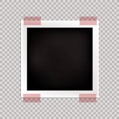 Vector Photography Frame, Blank Template, Isolated Card.