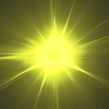 Bursting Light Lightburst Explosion Fractal Sunlight Star