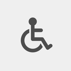 Invalid carriage flat vector icon. Invalid flat vector sign