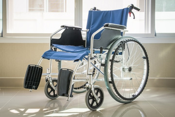 A wheelchair with a window