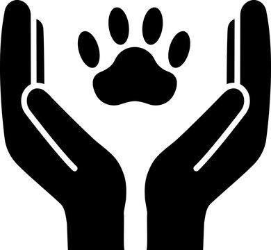 Animal welfare glyph icon