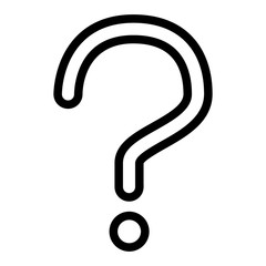 Question mark line icon. Ask vector illustration isolated on white. Guestion sign outline style design, designed for web and app. Eps 10.