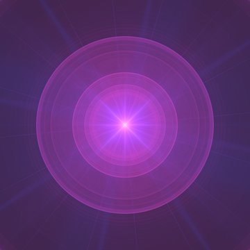 Purple Ball of Energy Chi Ki Prana Chakra Fractal Background Wallpaper