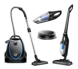 Realistic Vacuum Cleaners Set
