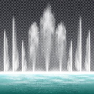 Fountain Realistic Transparent