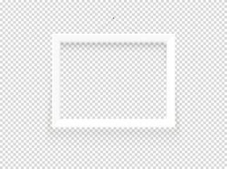 White blank frame vector mockup. Vector object isolated on transparent background