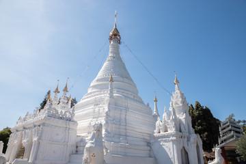 Wat Phra That Doi Kong Mu. temple at Mae Hong Son northern of Thailand.