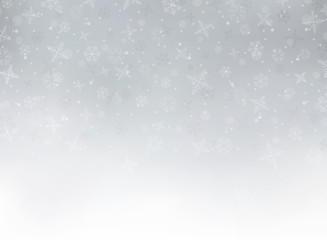 Merry Christmas festival background with snowflakes and glitters. You can use for Christmas festival work.