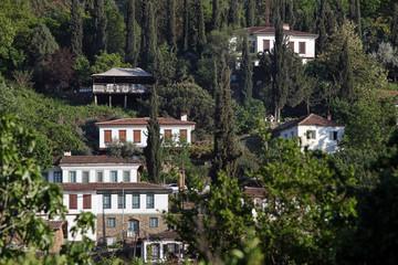 traditional Turkish village homes in Sirince, Selcuk, Izmir