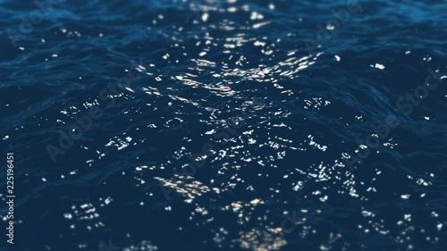 Calm ocean waves 4K seamless loop  High quality 4k video