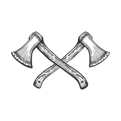 vintage sign with two crossed axes