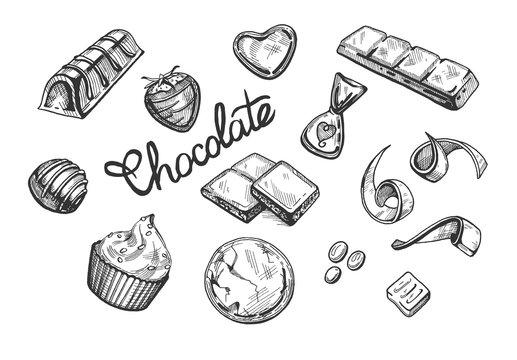 chocolate sweets set