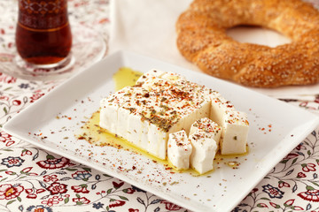 Diced Feta cheese with spices