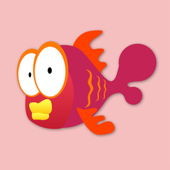 different and very beautiful fish vector illustration