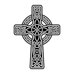 Celtic cross with patterns vector image