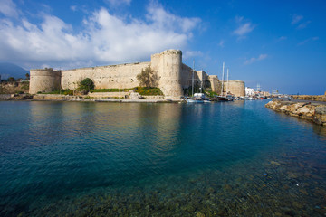 Beautiful medieval fortress in Kyrenia (Girne), North Cyprus