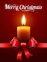 Christmas candle sign