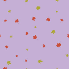 Maple leaves pattern seamless color