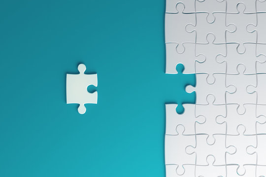 Creative blue puzzle background