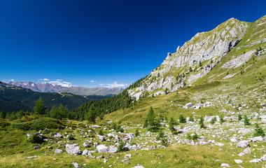 Mountains around Madonna di Campiglio, Trentino, Italy