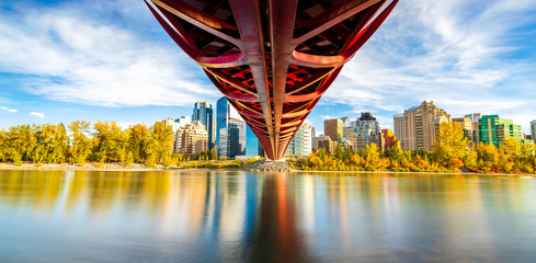 Peace Bridge Fall Season Panorama Wall mural