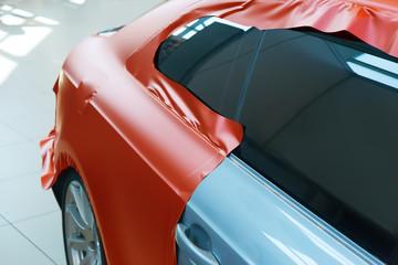 pasting of car carbonic plastic