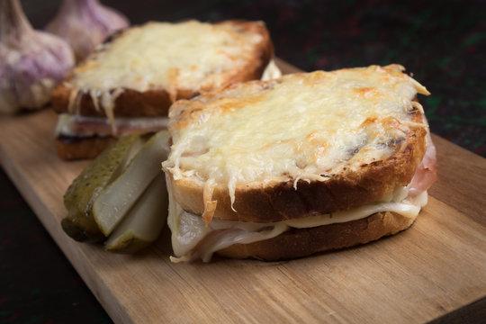 French croque monsieur sandwich