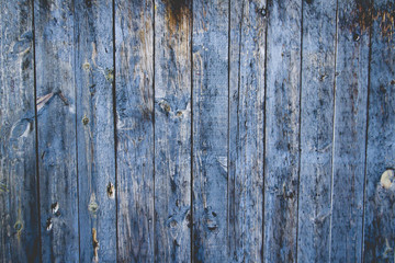 Old blie wooden wall background