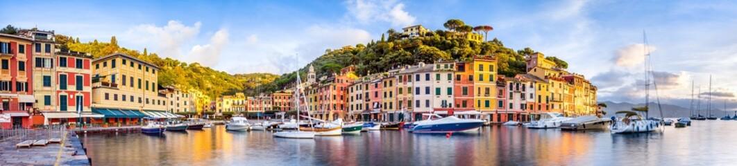 Portofino Hafen Panorama, Ligurien, Italien Fototapete